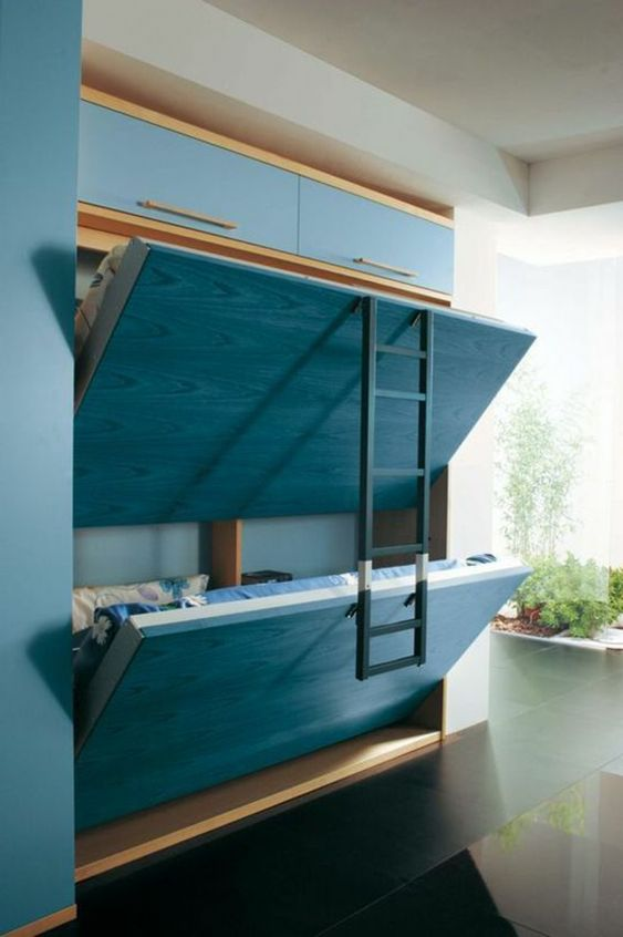 Built-Into-Wall Bunk Bed