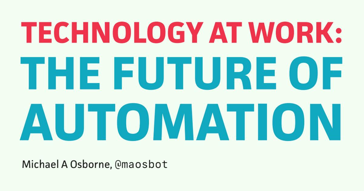 はてなブックマーク technology at work the future of automation