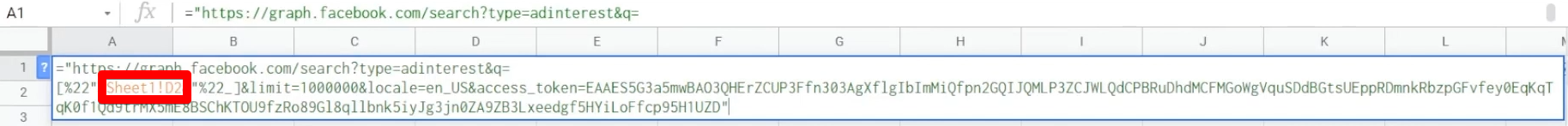 Variable in the URL in Google Sheets