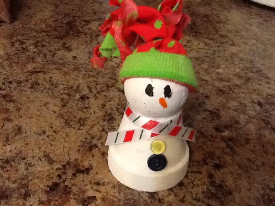 The Horizon Sun : DIY Clay Pot Snowmen Decorations