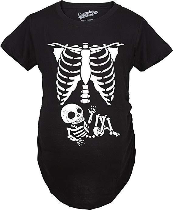 Maternity Skeleton Baby T-Shirt