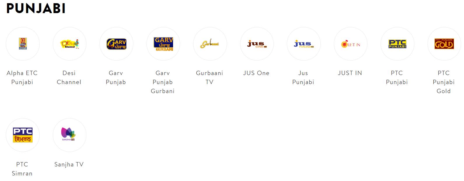 Sling TV Punjabi Channels