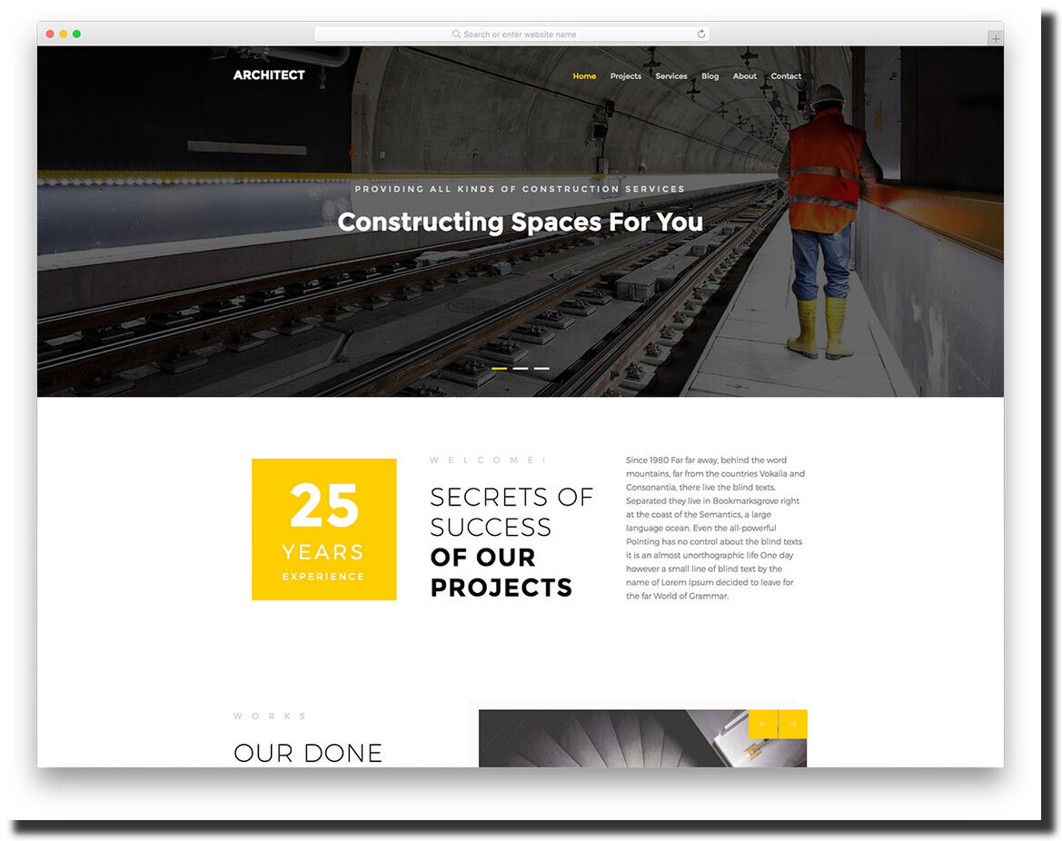 modern and bold website template