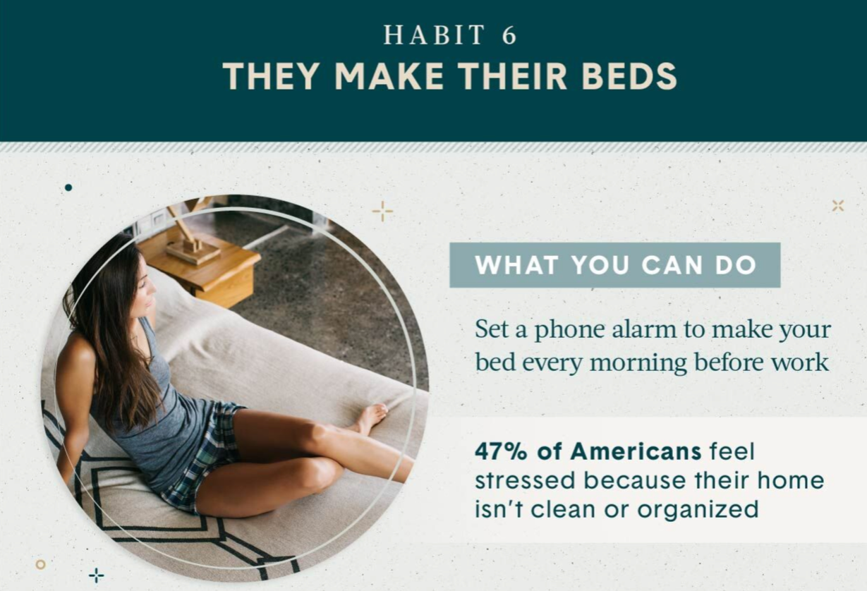 Declutter your life Habit 6 make your bed every morning