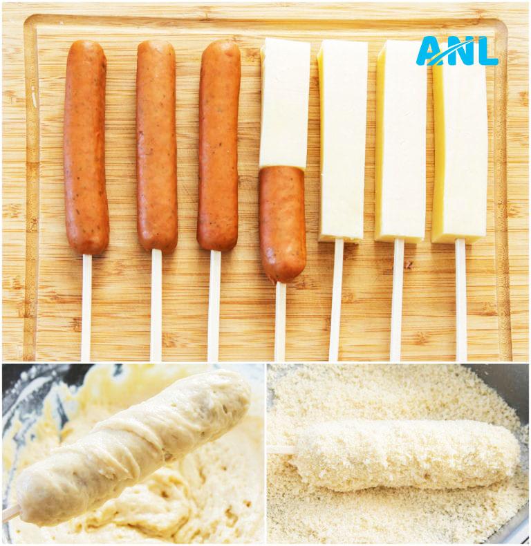 hotdog phô mai