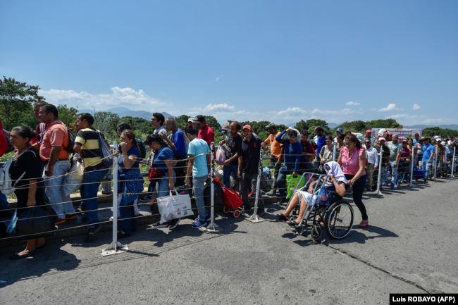 Мост Симона Боливара - главный наземный пограничный переход между Колумбией и Венесуэлой. Июль 2020 года