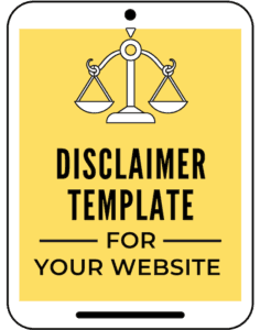 Disclaimer Template for your website and blog