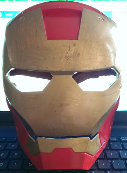 Iron Man's helmet as a mask