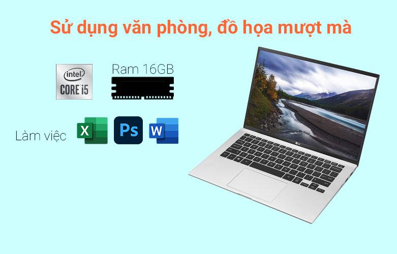 Laptop LG Gram 2021 14ZD90P-G.AX56A5 (i5-1135G7) (Bạc) | Hiệu năng tối ưu