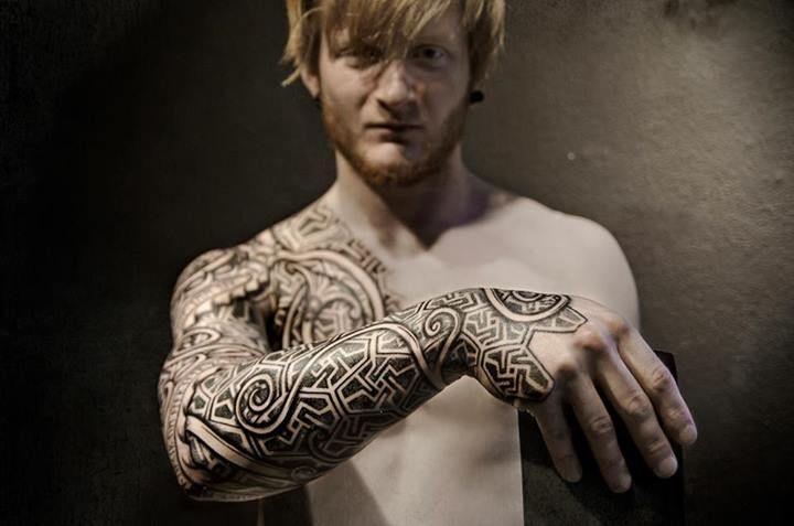 Viking tattoos by Peter Walrus Madsen (DK)   Tribal tattoos for men, Cool  tribal tattoos, Tribal tattoos