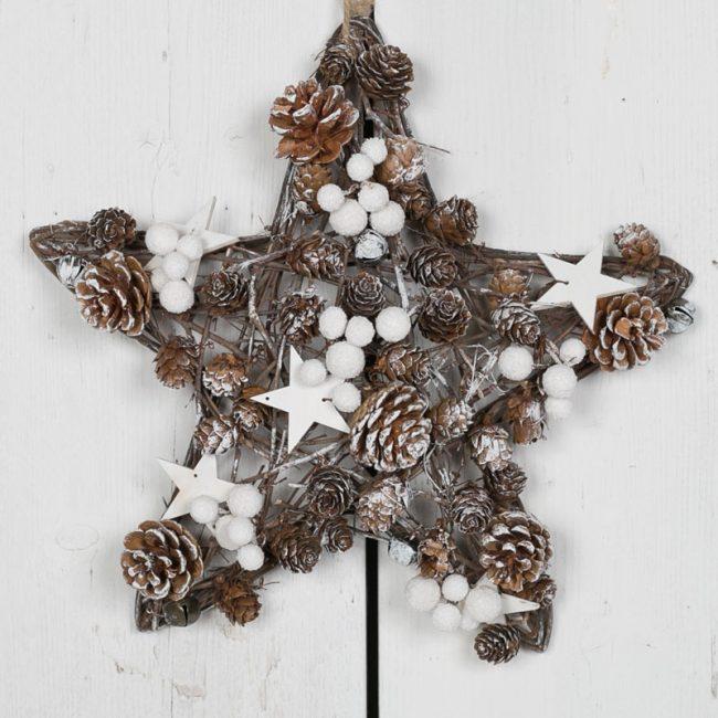 Новогодние украшения из шишек для дома фото