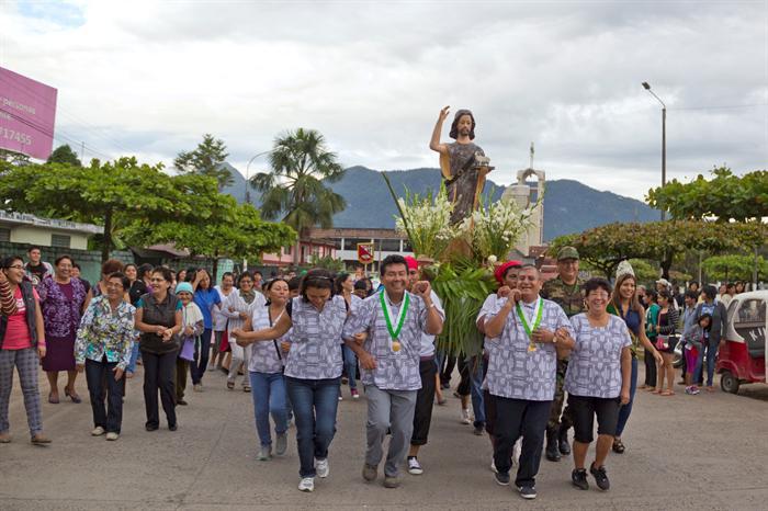 Procesión de San Juan Bautista en el la Fiesta de Noche de San Juan