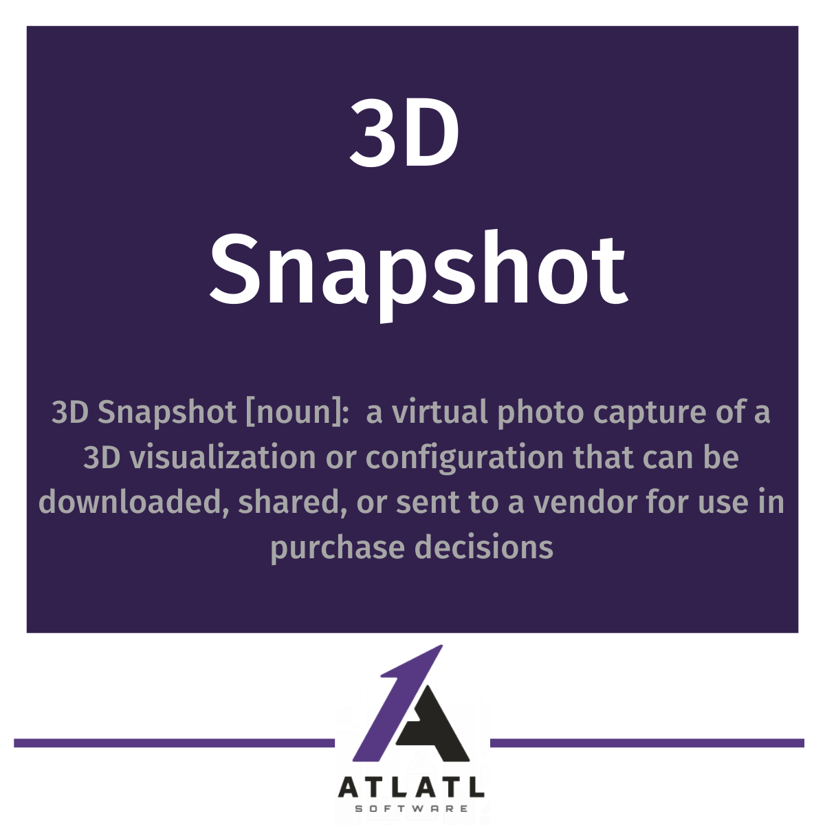 3D technology features for Ecommerce ATLATL