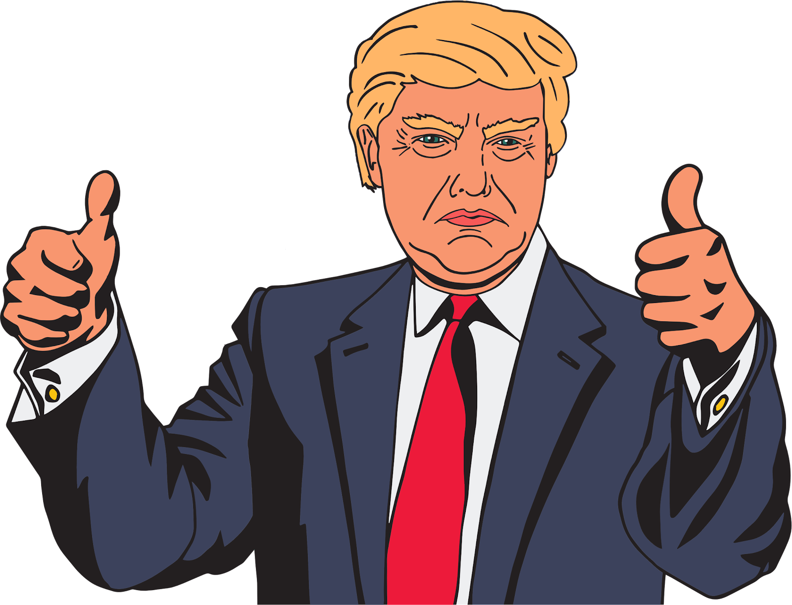 Donald Trump Vector Clipart.