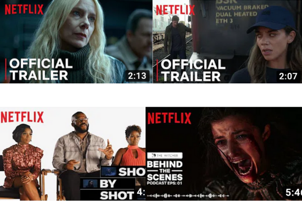 Netflix Youtube Video thumbnail examples
