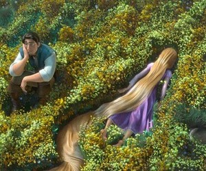 Rapunzel lays face down on the ground as her and Flynn's world collide in Dan Wells' Plot Turn #1 moment.