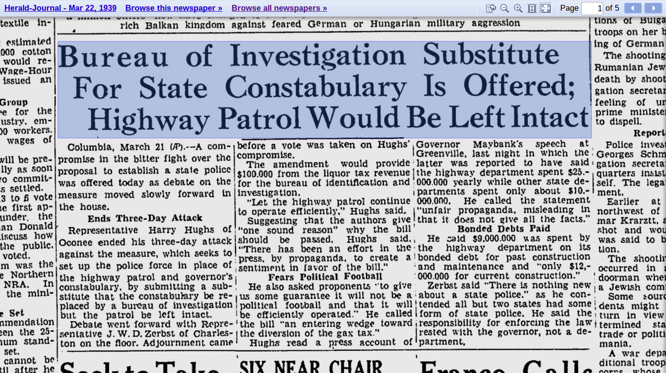 1939 fight for creation of state police.png