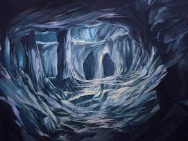 Pintura de Francisco Darens en óleo El cenote ideal