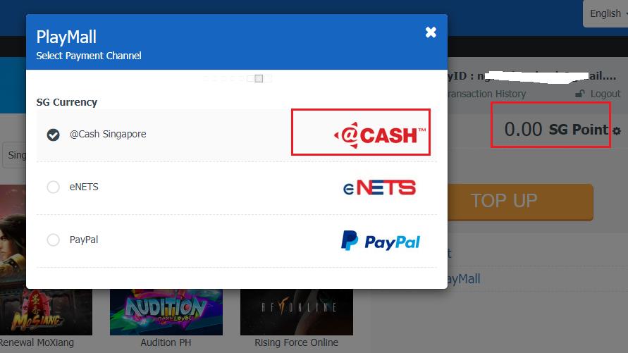 Làm thế nào để nạp cash game MU Online SEA? 1
