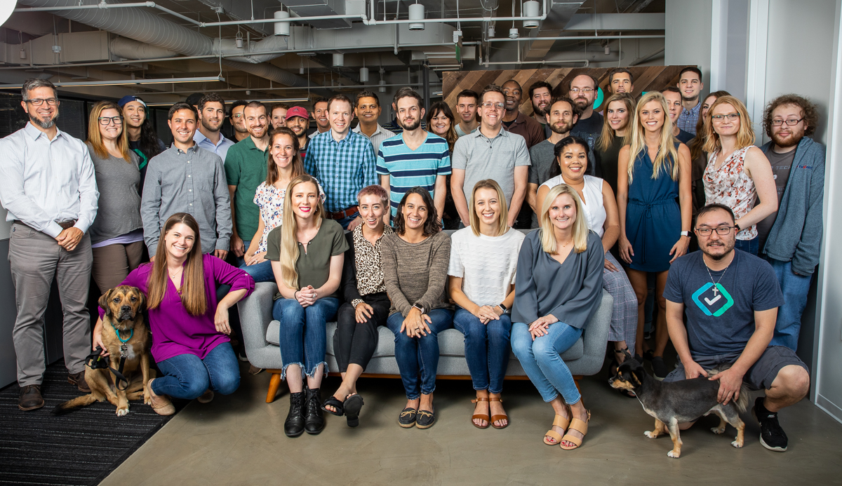 Evident ID's team gathering for a group photo