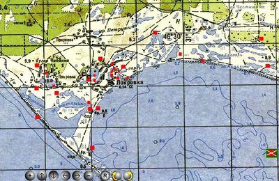 Скрин карты Кинбурнской косы