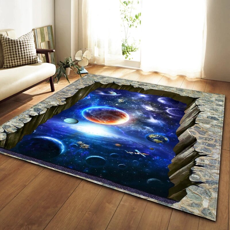 A 3D Rug Are Movable Accents