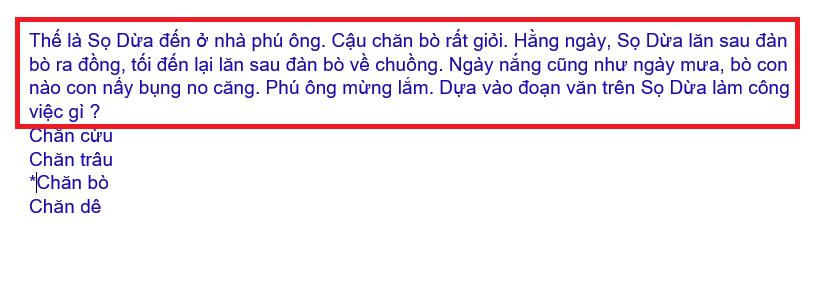 Hình 2.2: Cách soạn tên câu hỏi, đáp án