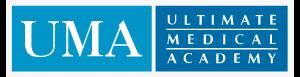 Logo of Ultimate Medical Academy online pharmacy technician training program
