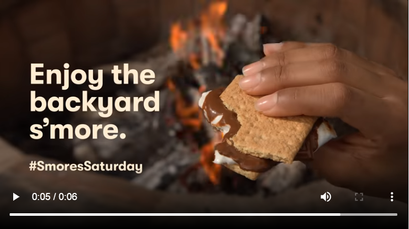 Hershey's Smores #smoreseason is one of the top digital creatives for the brand.