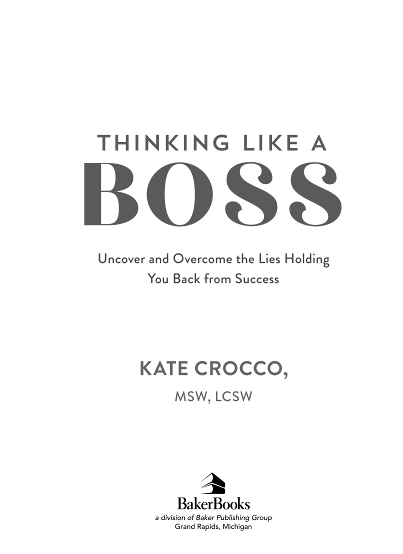 Thinking Like a Boss Cover Page