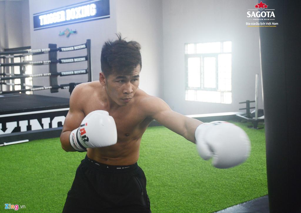 Trần Văn Thảo đang tích cực tập luyện để chuẩn bị cho trận tranh đai WBC thế giới