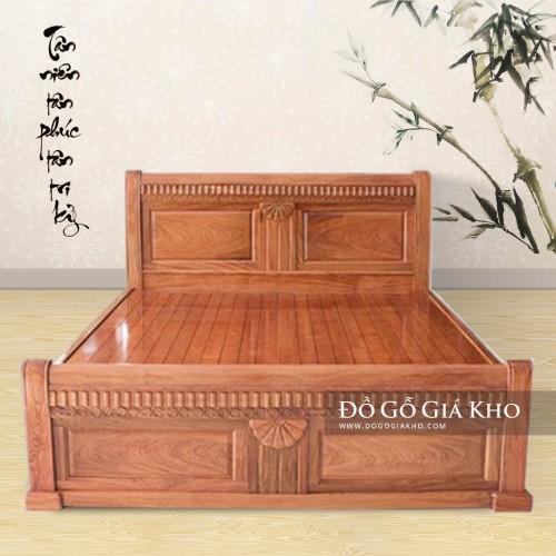 Giường Ngủ gỗ Hương Đá cao cấp - GN122