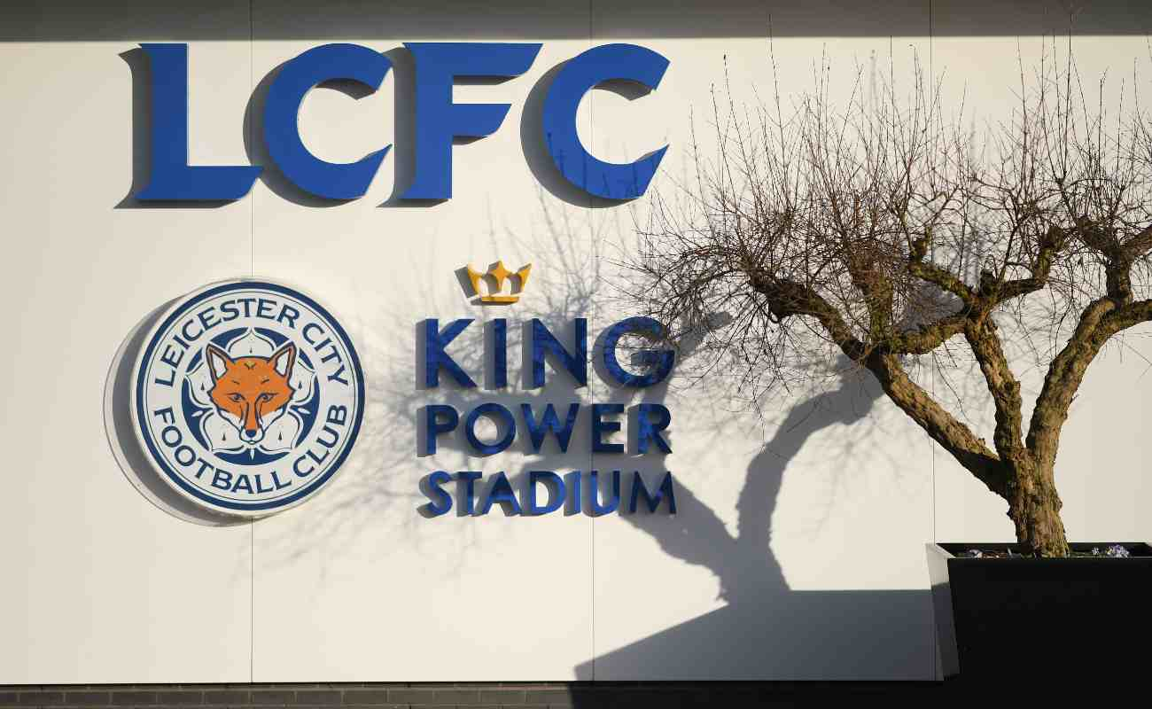 The side view of Leicester City's King Power Stadium
