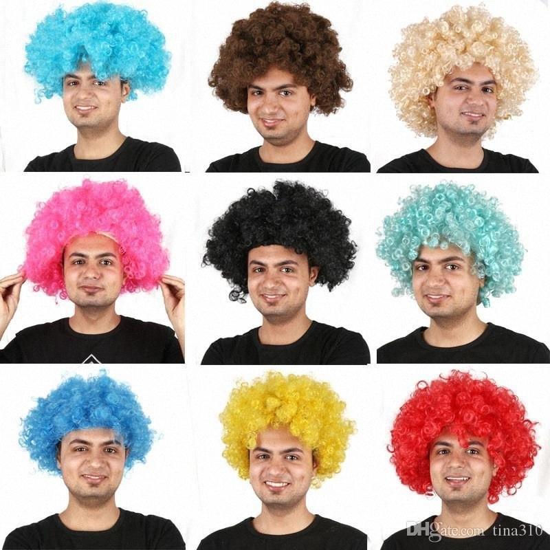 Compre Pelucas Sintéticas Aficionados Despiece Cosplay Cabeza Afro Partido  De La Peluca De La Peluca Multicolor De Gran Tamaño Para Los Ventiladores  De Bolas Festival De Carnaval Pelucas IC686 Njhe # A