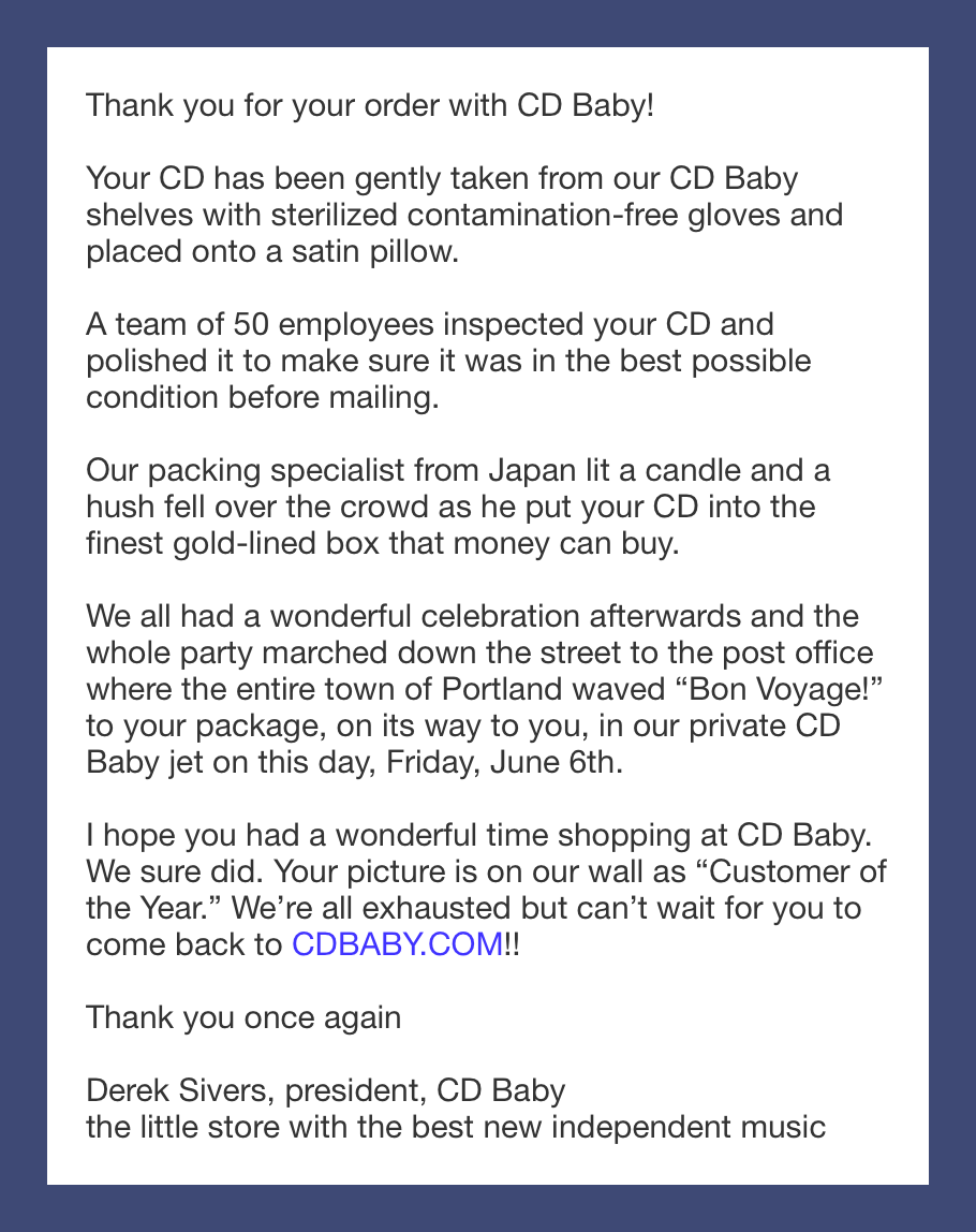 cdbaby confirmation email.