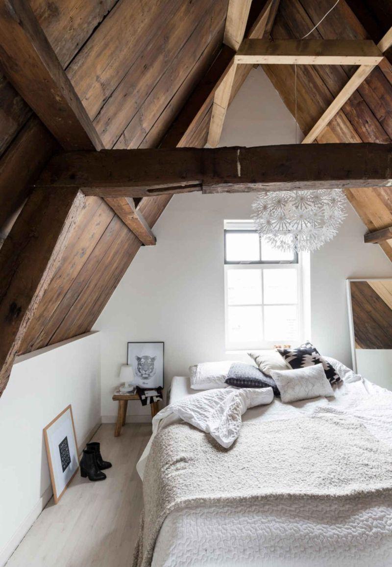 Farmhouse Minimalist Attic Bedroom