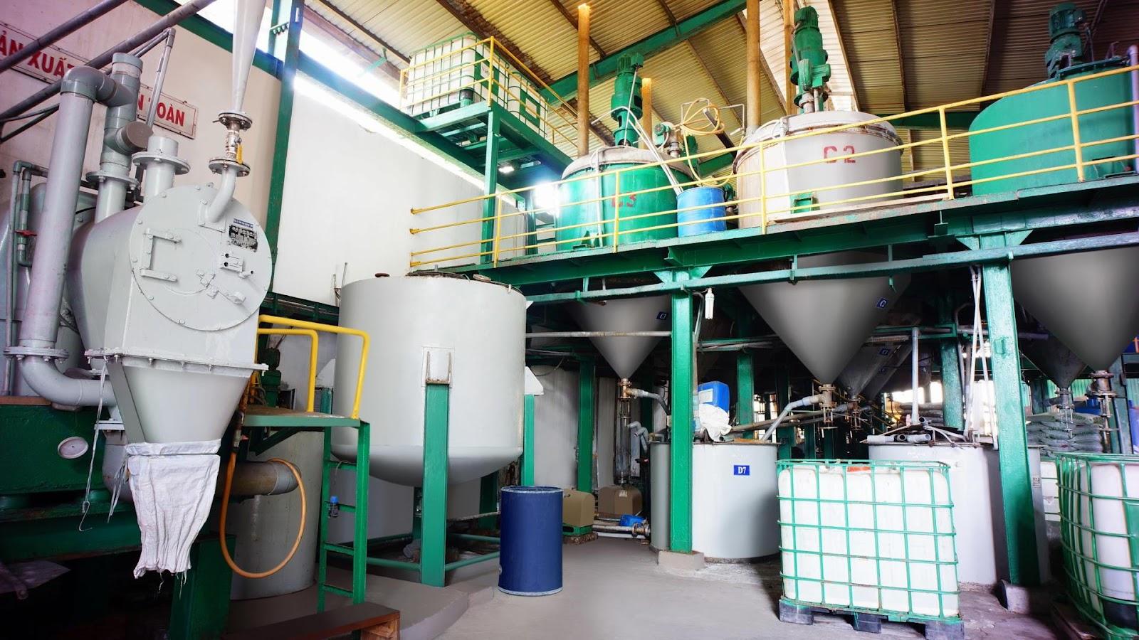 Tổng hợp các sản phẩm do nhà máy hóa chất Bình Dương sản xuất