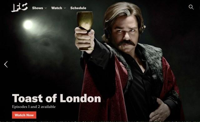 Screenshot of Toast of London promo on IFC.com