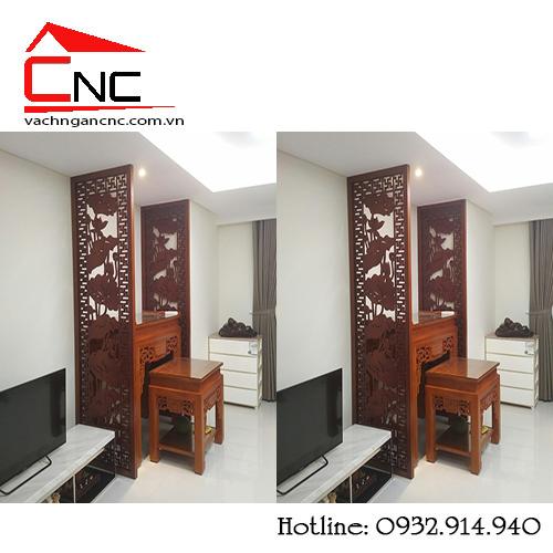 101 vách ngăn phòng thờ và phòng khách với cnc bằng gỗ