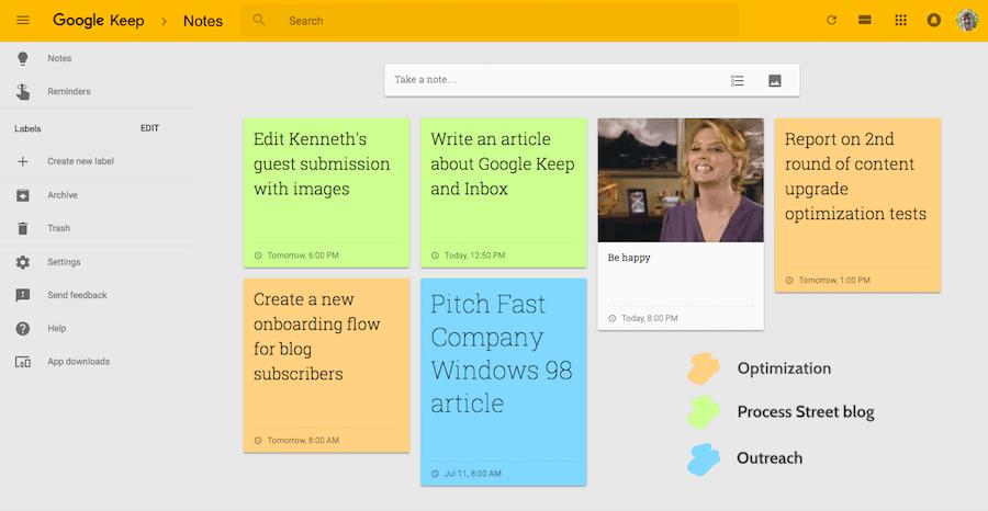 приложения для заметок - google keep