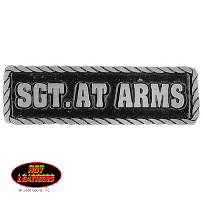 SGT AT ARMS Patch Motorcycle Club Rank Officer Reflective Patches for Vest Night