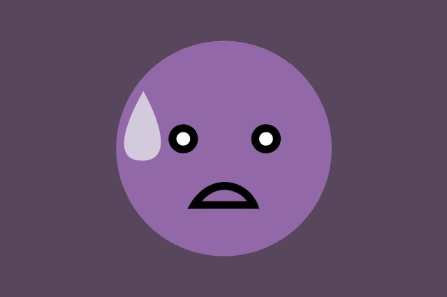 A nervous emoji.