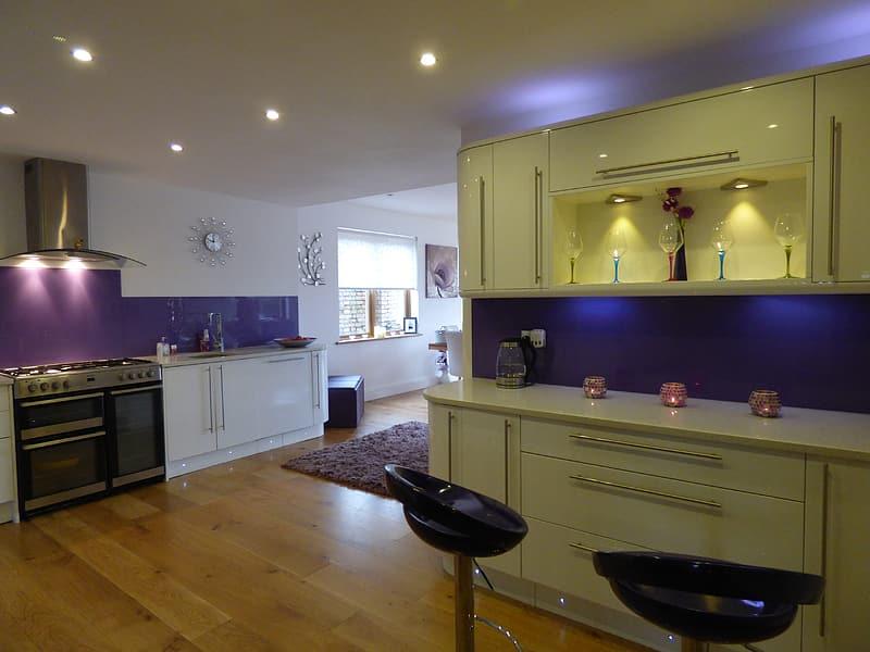 Yellow Modular Kitchen Cabinets