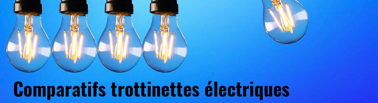 Comparatifs trottinette électrique
