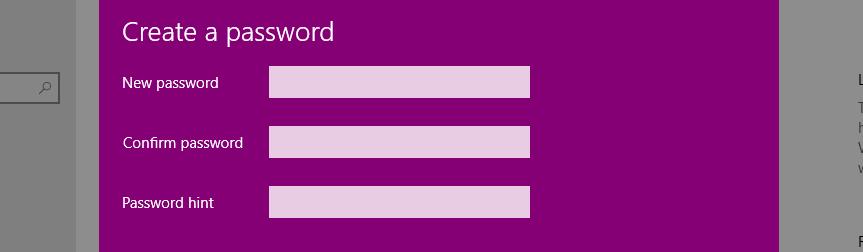Điền mật khẩu muốn đặt, nhập lại mật khẩu và Password Hint