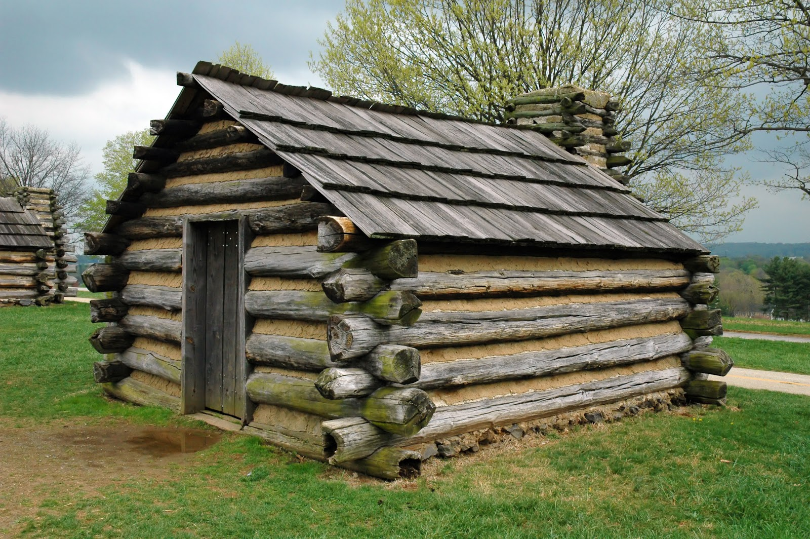 Replica log cabin at Valley