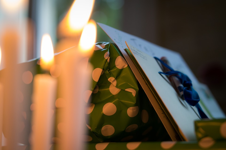Dom, Aniversário, Velas, Festival, Natal