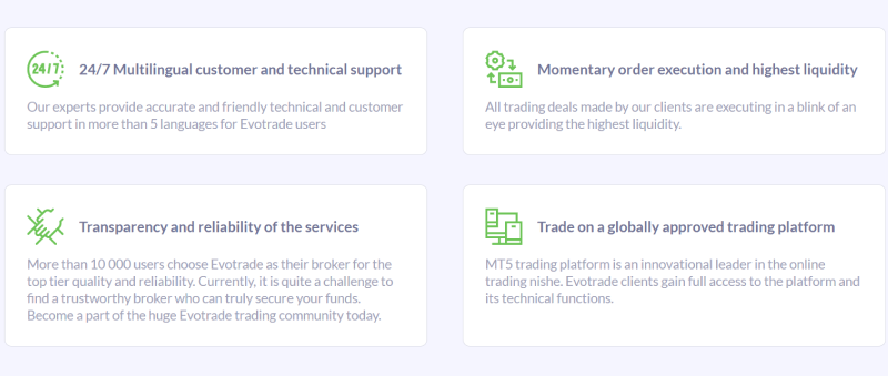 Evotrade broker services and trading features 4