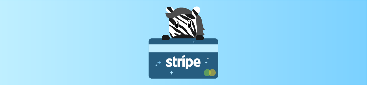 header image of zebra peaking over credit card