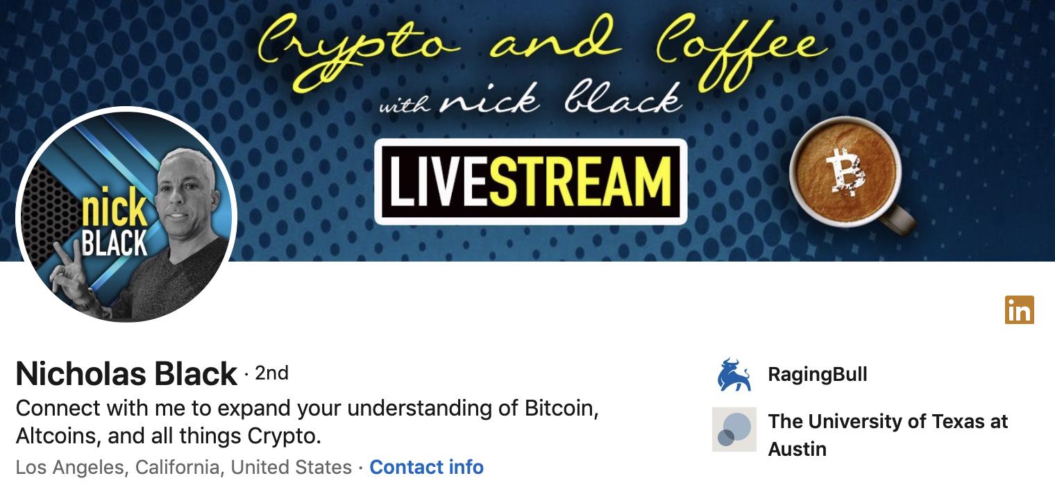 Nick Black   Social Media Banner   Investment Influencer